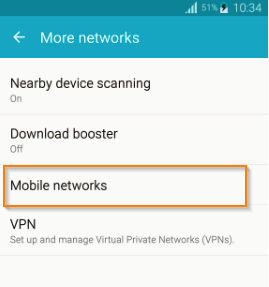 Mobile Data / APN Settings