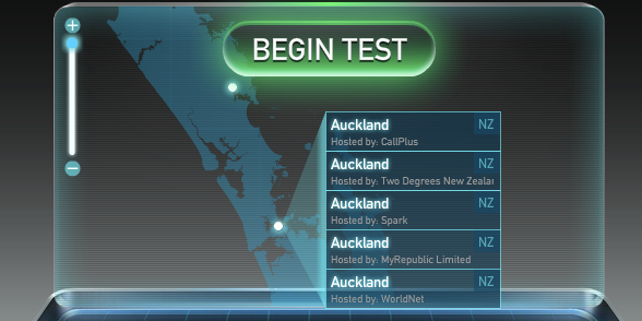How do I carry out a Speed Test?